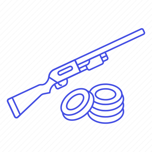 disc, equipment, firearm, scattergun, shooting, skeet, sports icon