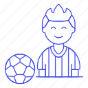 ball, football, male, member, player, shirt, soccer, sports, t, team icon