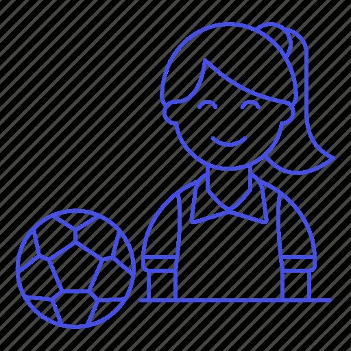 2, ball, female, football, member, player, shirt, soccer, sports, t, team icon
