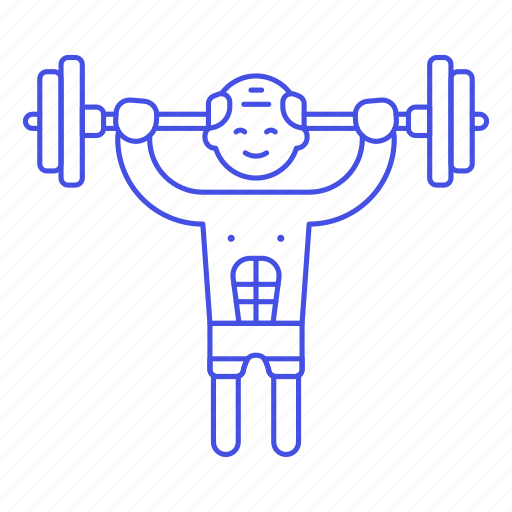 barbell, bodybuilder, fitness, male, sports, strentgh, training, weight icon