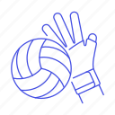 apparel, ball, equipment, gear, glove, hand, hit, sports, volleyball icon