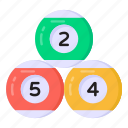 billiards, snooker balls, billiard balls, cue sports, pool balls icon