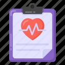 heart report, health report, cardiogram, cardio report, medical report icon