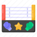 wrestling ring, boxing ring, boxing field, boxing match, boxing area icon
