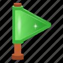 flag, flagpole, flaglet, sports flag, streamer icon