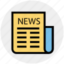 information, media, news, newsletter, newspaper, press, sports news