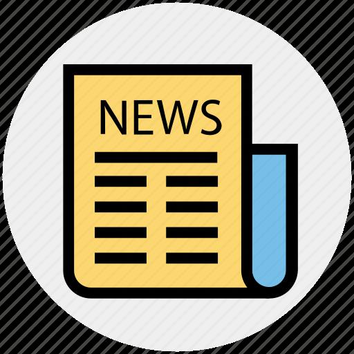 information, media, news, newsletter, newspaper, press, sports news icon