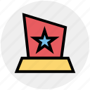 award, medal, position, prize, reward, star icon