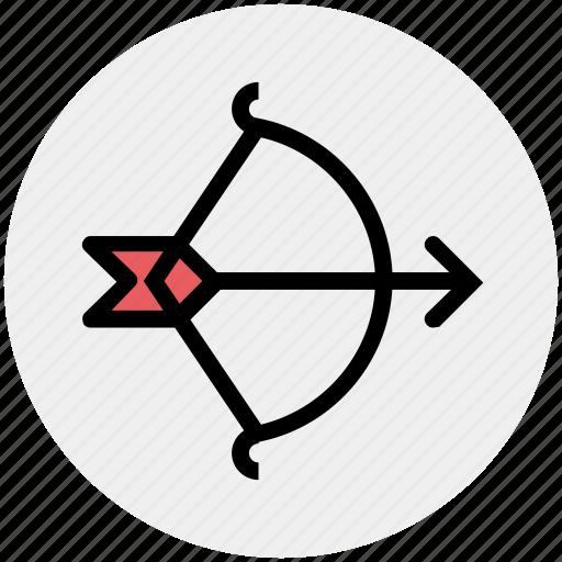 archery, arrow, bow, shoot, sports, target, targeting icon