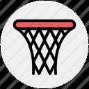 backboard, basketball, goal, hoop, net, shot, sports icon