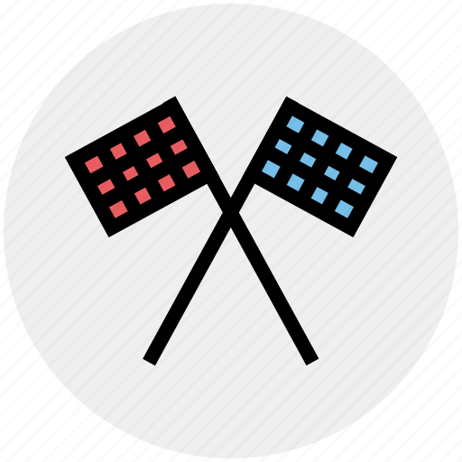 finish, flags, race, sports, sports flags, target, winning flags icon
