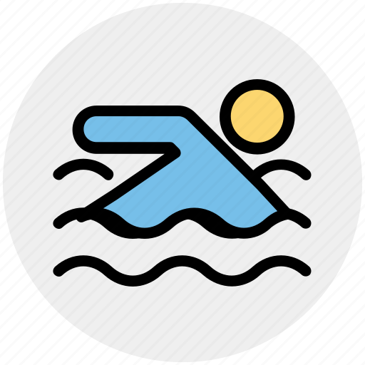 exercise, pool, sports, summer, swim, swimmer, swimming icon