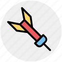 aiming, archery, arrows, bow, feather, target, tip icon
