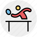 ping pong, player, sports, table tennis, tennis player icon