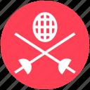 game, ninja weapon, samurai swords, sports, swords, swords fighting icon
