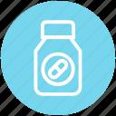 bottle, capsule, fitness, gym, medicine, pharmacy, vitamin