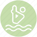 dive, jump, sea, swim, swimming pool, water, water dive icon