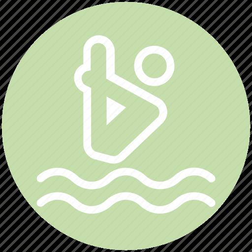 dive, jump, sea, swim, swimming pool, water, water dive icon