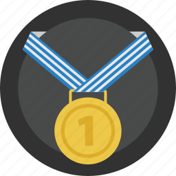 competition, first, gold, medal, prize, race, reward, winner icon