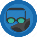 goggles, sport, swimming, swimming goggles, swimming trunks, swimsuit, water icon