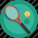 racket, tennis, ball, sport