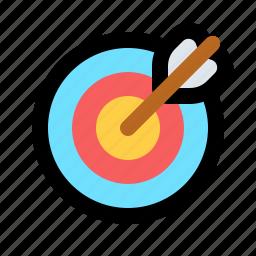 archer, archery, bullseye, errow, shoot, sport, target icon