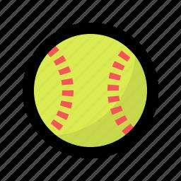ball, baseball, game, ladies, play, softball, sport icon