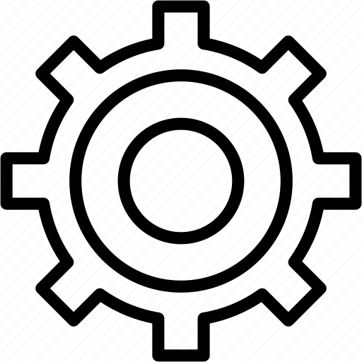 engineering, gear, mechanical, process, setting icon