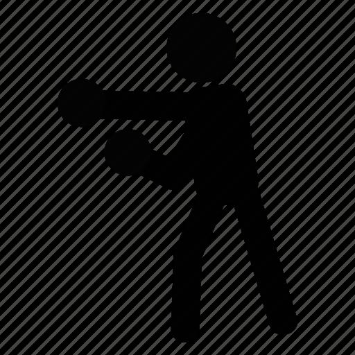 boxing, fight, fist, k.o, match, round, sport icon