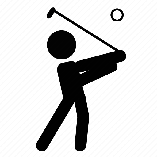ball, field, game, golf, hold, sport, stick icon