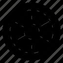 circle, round, wheel icon