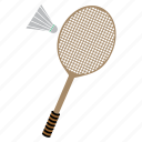 bedminton, games, play, racket, shuttlecock, sports icon