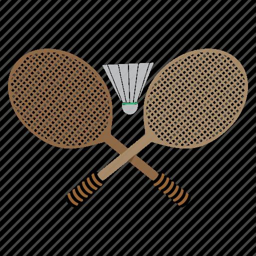 bedminton, games, play, rackets, shuttlecock, sports icon