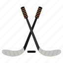 games, hockey, ice, play, sports, sticks icon