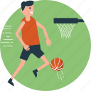 basketball, basketball court, basketball player, extreme sports, outdoor sports icon