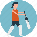 batsman, cricket match, cricket player, playing cricket, team player icon