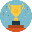 celebration, championship, sports tournament, trophy sports gala icon