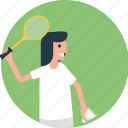 badminton match, badminton player, playing badminton, racket, score icon