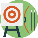 archery, archery practice, bow and arrow, extreme sports, target practice icon