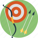 archery, bow and arrow, outdoor sports, quiver, tournament icon
