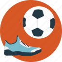 football gear, outdoor sports, playing football, shoes, soccer icon