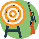 extreme sports, gun, shooting practice, shooting target, shooting tournament icon
