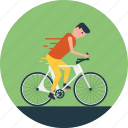 bicycle, cycling, cyclist, outdoor sports, road icon
