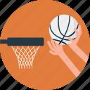 basketball, basketball training, net, outdoor sports, scoring basket icon