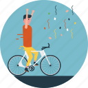 cycling tour, cycling tournament, cyclists, outdoor sports, participants icon