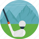 golf, golf course, outdoor, playing golf, sports icon