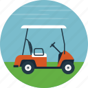 field, golf, golf cart, golf course, outdoor sports icon