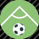 corner hit, football field, football player, foul play, soccer field icon