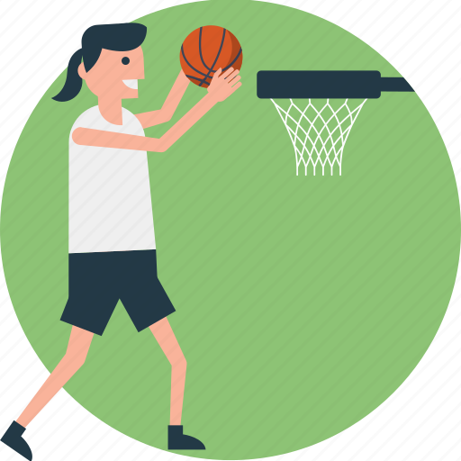 basketball, basketball court, basketball hoop, basketball player, outdoor sports icon