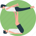 double workout, exercise, gyming, physical activity, working out together icon